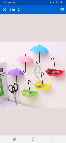 Чадърчета закачалки за стена цветни красиви