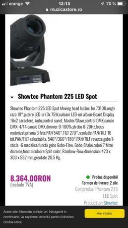 Moving head Showtec Phantom 225 LED Spot 2 buc cu case