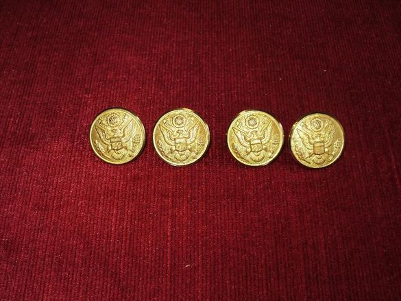 Метални копчета от военен шинел Rex Products Corp. New Rochelle NY