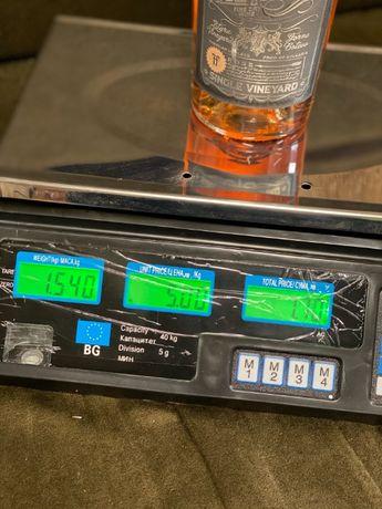 1211Електронен кантар / Електронна везна до 40 кг Метална тава, с акум