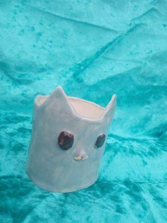 Керамическое кашпо Мышка