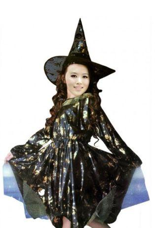 Rochita Halloween si pălărie vrăjitoare