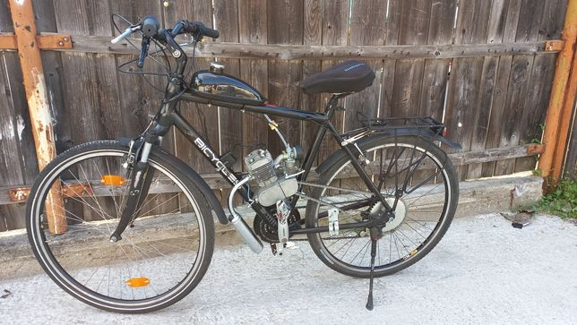 Bicicletă cu motor în 2Timpi pe benzină!