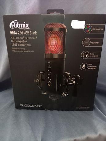 Настольный потоковый USB микрофон RGB-подсветкой
