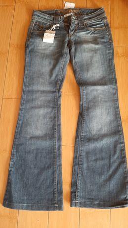 Blugi evazati, flared jeans, Promod, mar 36 (S)