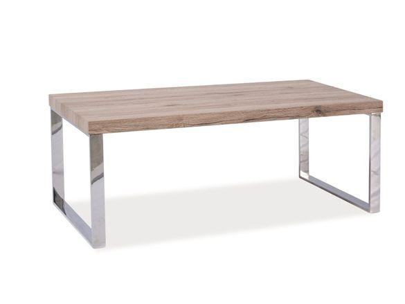 Чисто нова стилна холна маса дърво със сребристи крака