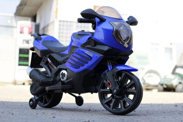 Motocicleta electrica pentru copii LQ168 2x20W cu Music Player #Blue
