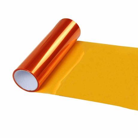 Жълто фолио за фарове, за стопове 30 см широчина на фолиото