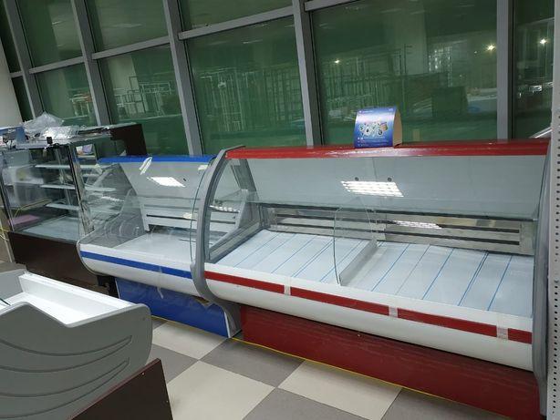 Холодильная витрина гастроном для магазина колбасы, сыры, мясо, рыба