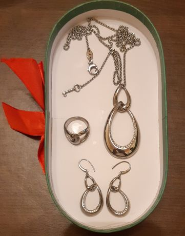 Set Fossil cercei colier inel