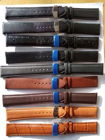 curele ceas piele cu deploiant ,marimi de16, 18, 20 22,24 si 26 mm