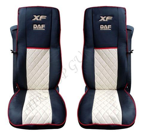 Висококачествени кожени тапицерии за DAF XF 106 с бродирано лого