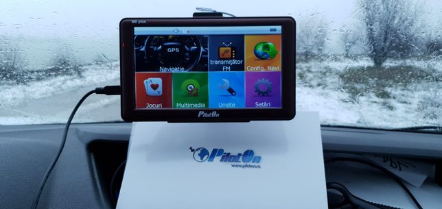 Gps PilotOn M9 Plus cu program Igo Primo pt Camion si autoturism