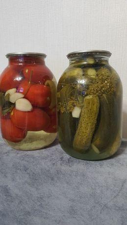 Продам соленые огурцы и помидоры