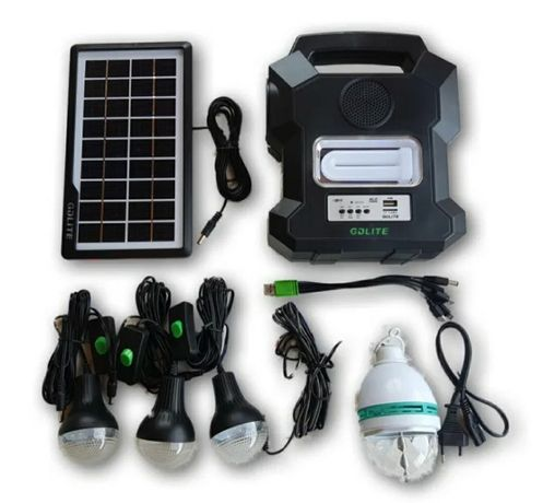 Panou/Kit solar de iluminat GD-1000A,USB,bluetooth,radio FM,4 becuri