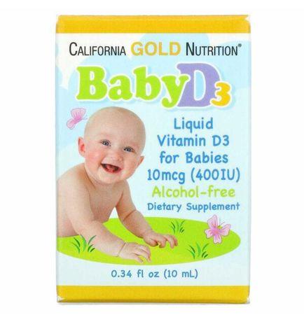 Айхерб витамин Д3 для детей до 1 года 400 ЕД, iherb
