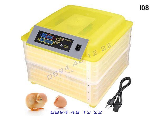 Автоматичен инкубатор с валгомер люпилня 112 яйца яйце автомат