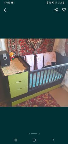 Кроватка детская транформер