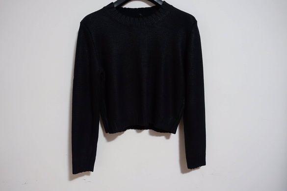 """Черен пуловер """"Ризница"""" Divided"""
