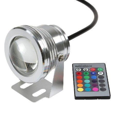 Подводен цветен RGB прожектор с дистанционно управление