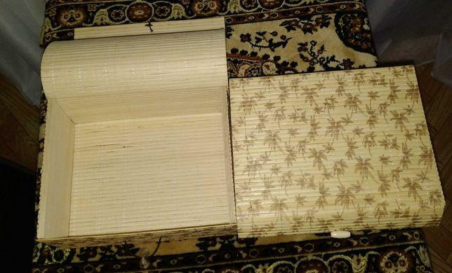Коробка из деревянной соломки