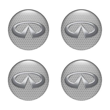 Силиконови стикери за капачки на джанти Инфинити размери 40мм до 90
