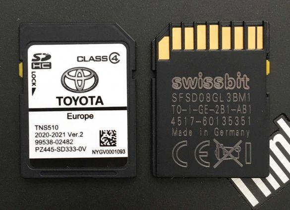 Toyota Lexus TNS510 Навигационен диск Лексус Тойота Sd Card TNS 510