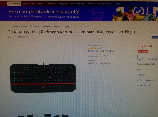 Redragon karura 2 RGB box garantie