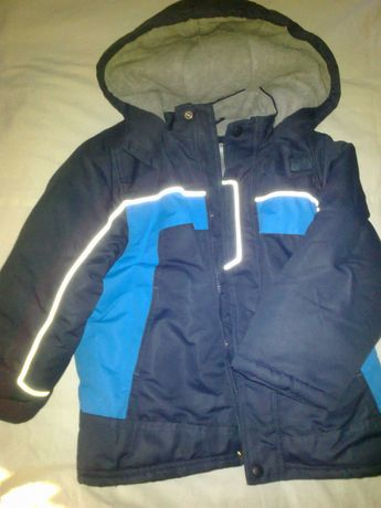 Детская демисезонная синяя куртка