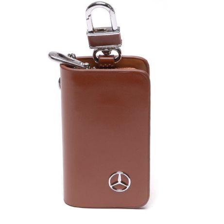 Ключодържател чантичка за автомобил - кожен!
