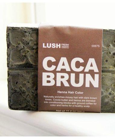 Хна 100% натуральный состав Lush Caca Brun коричневая, США, 320гр