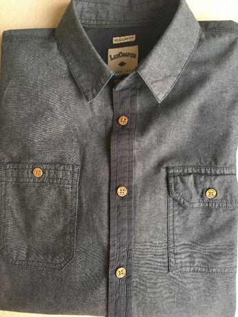 Дънкена мъжка риза Lee Cooper
