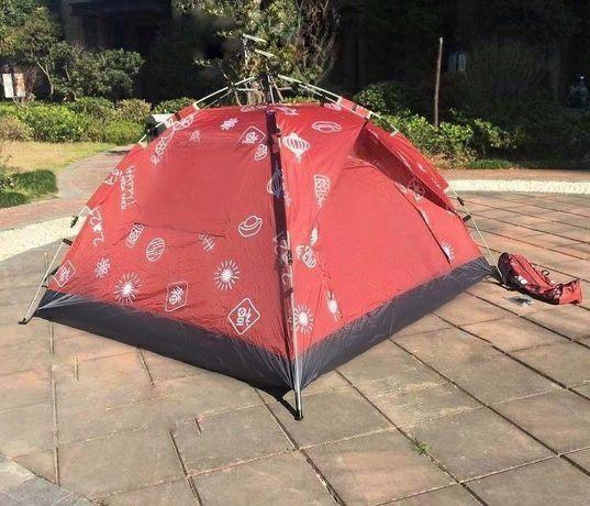 Палатка с дождевиком зонтичная на 2-3 человека с отличной вентиляцией