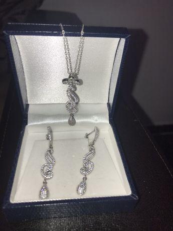Vand set bijuterii din argint 925, marca Sevda
