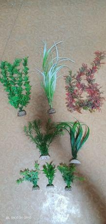 Аквариумные искусственные растения.
