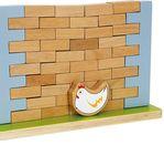 -10% Дървена Дженга стена с тухли за редене и бутане + пиленце