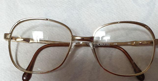Ramă ochelari placată cu aur 18K, stantat pe rame