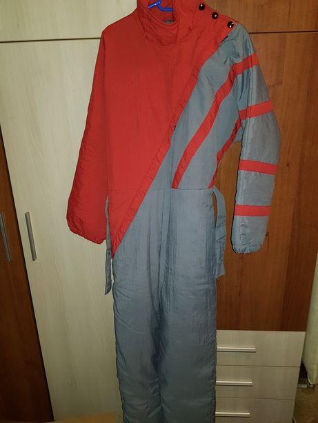 2x Costum/salopeta/ pantaloni ski rosie dama