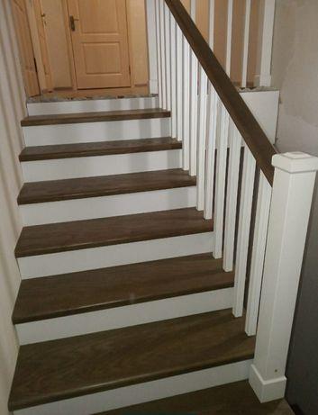 Лестница из всех пород дерева ступени из карагача от 30000 за квадрат