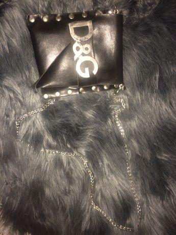 Оригинална чанта естествена кожа Dolce i Gabanna