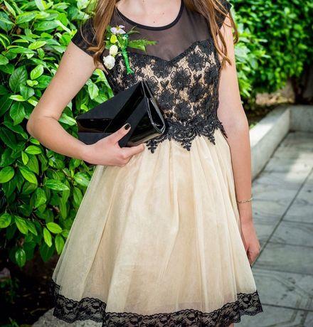 """Красива, официална рокля """"Kokoa dress"""", цвят черно и златисто"""
