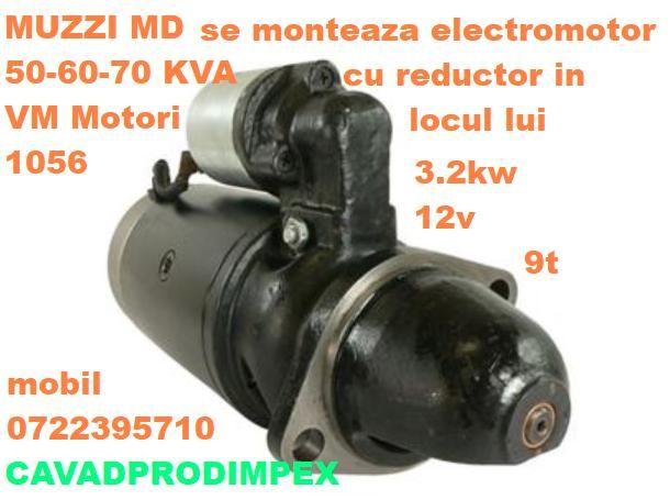 Electromotor NOU pentru generatoare Muzzi MD60kva,70kv,VM Motori 1056