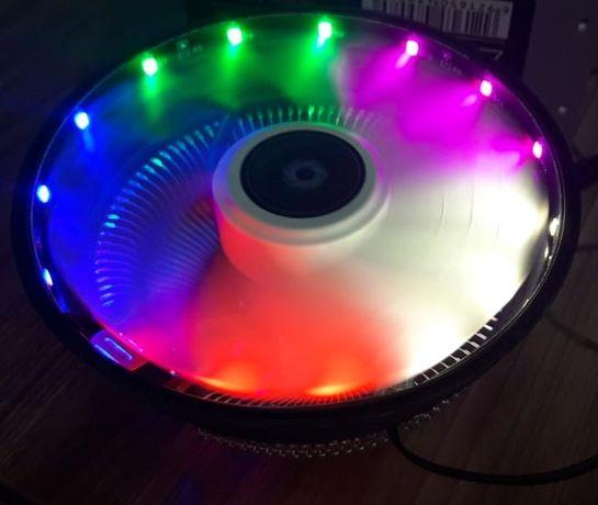 Кулер Универсальный Подсветка 775+1155/56/50/51+AMD Вентилятор
