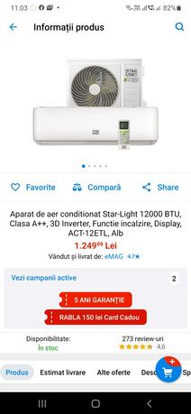 Aer conditionat Star light ACT-12ETL