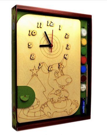 Часы с циферблатом под роспись «Мышонок» с красками