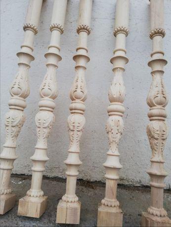 Balustri lemn masiv