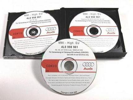 """АУДИ/AUDI """"Combo"""" пакет дискове за ъпдейт на MMI 2G до 55.70 + NAVI"""
