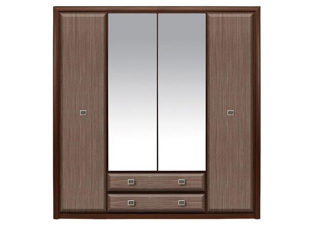Шкаф для одежды 4Д , коллекции Коен МДФ, Штрокс Темный, БРВ Брест