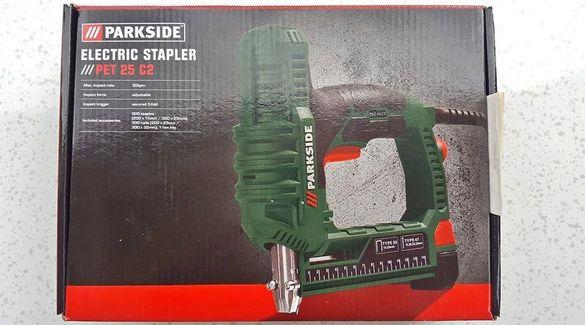 Продавам нов комбиниран ел.такер Парксайд скоби 25 мм пирони 32 мм