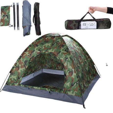 По-голяма четириместна камофлажна палатка с комарник 208/208/145 см